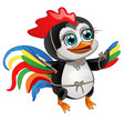 cute little penguin with bright feathers of a vector image vector image