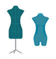 dummies for clothes in shape of female figure vector image