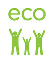 eco family vector image vector image