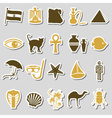 egypt country theme symbols stickers set eps10 vector image vector image