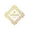 elegant retro flourish decor retro vintage vector image vector image