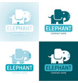 elephant wild animal icon set text lettering logo vector image
