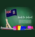 flag of falkland islands on black chalkboard vector image vector image