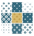 Floral seamless pattern set fashion vector image vector image