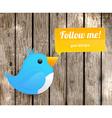 Following Bird Icon vector image
