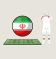 football iran sport wear vector image vector image