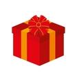 gift box ribbon isolated design vector image
