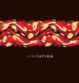 gold and red wavy geometric abstract pattern vector image vector image