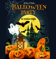 halloween horror party poster for autumn holiday vector image vector image