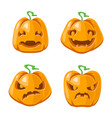 halloween jack o lantern pumpkin decoration scary vector image vector image