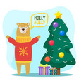 holly jolly christmas holidays congratulations vector image vector image