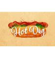 Hot dog kraft vector image vector image