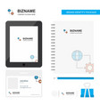 internet setting business logo tab app diary pvc vector image