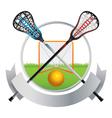 Lacrosse Emblem vector image vector image
