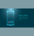 latest tech for smartphones communicate via vector image vector image