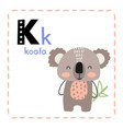 letter k funny alphabet for young children vector image vector image