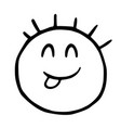 line emoticons icon shows language playful vector image vector image
