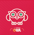 line style owl vector image