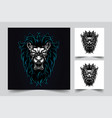 lion angry artwork vector image vector image