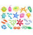 little dangerous bacteria for poster vector image