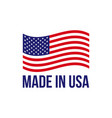 made in usa icon american flag vector image vector image