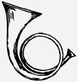 Military trumpet vector image vector image