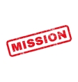 Mission Text Rubber Stamp vector image vector image