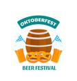 oktoberfest - bavarian festival banner with beer vector image vector image