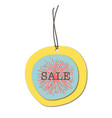paper sales tag colorful design vector image
