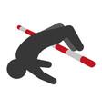 pictogram man practice pole vault sport vector image vector image