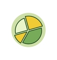 Pie chart colorful icon vector image