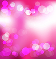 Pink elegant abstract background with bokeh lights vector image vector image