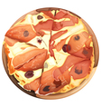 Pizza with ham vector image vector image