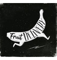 poster fruit delivery chalk vector image