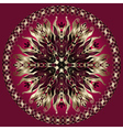 Purple gold black mandala vector image vector image