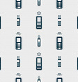 remote control icon sign Seamless pattern with vector image vector image