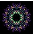 Round Mandala Color Dark 2 vector image vector image