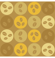 Seamless background with coffe beans vector image vector image