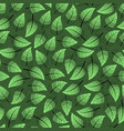seamless pattern with leaf elements image vector image vector image