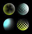 set abstract halftone 3d spheres 2 vector image vector image