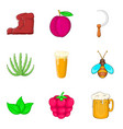 sickle icons set cartoon style vector image vector image