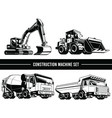 silhouette construction machine heavy industrial vector image vector image
