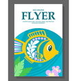 Summer flyer with a decorative fish on the ocean vector image