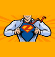 superhero in style comic pop vector image vector image