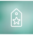 Tag with star best offer sale thin line icon vector image vector image