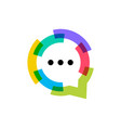 talk chat bubble colorful logo icon vector image