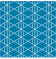 triangle aztec indigo blue pattern seamless vector image