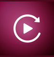 video play button like simple replay icon isolated vector image