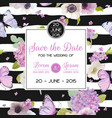 wedding invitation template save the date card vector image vector image