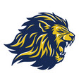 wild lion head mascot vector image vector image